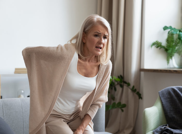 Woman with Sciatica